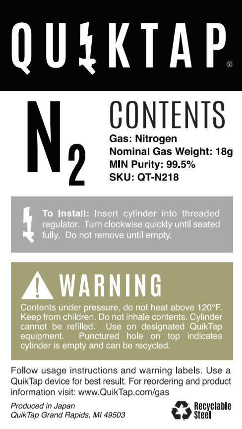 18g Nitrogen Tank
